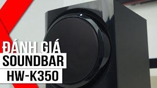 FPT Shop - Đánh giá loa Samsung Soundbar HW-K350: Thiết kế đẹp, công suất lớn