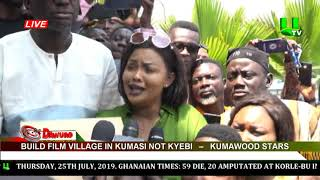 Build Film Village in Kumasi not Kyebi – Kumawood Stars petition parliament