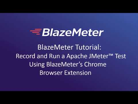 Record and Run a JMeter Test Using the Chrome Browser Extension