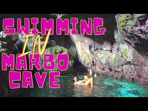 Guam Swimming In Marbo Cave