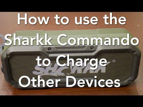 How To Use The Sharkk Commando Bluetooth Speaker As A Powerbank