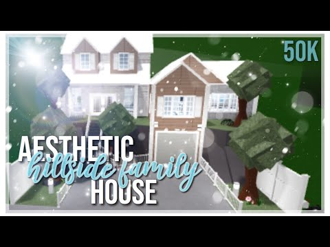 Roblox Bloxburg Aesthetic Family Hillside House Speedbuild