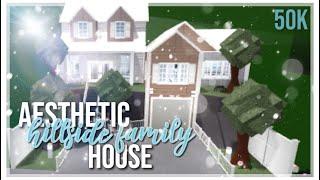 Proprietà Roblox . Bloxburg: Estetica Famiglia Hillside House Speedbuild 50k