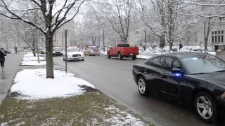 Indiana University Police Procession - 3.25.2013 - In Memory Of Iupd Chief Cash