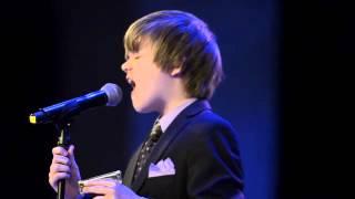 Joshua King, age 12, sings