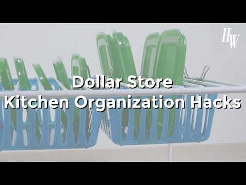 Dollar Store Kitchen Organization