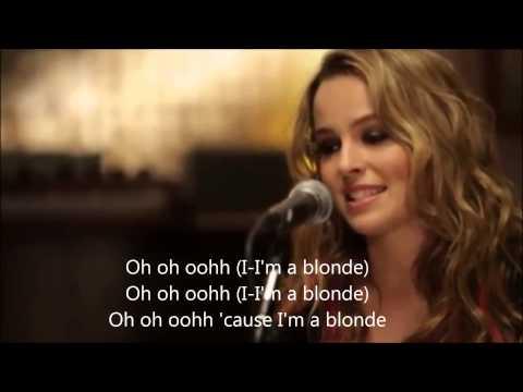 """Blonde"" - Bridgit Mendler acoustic version with lyrics + chords"