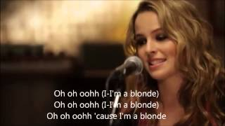 """Blonde"" - Bridgit Mendler acoustic version with lyrics + chords"