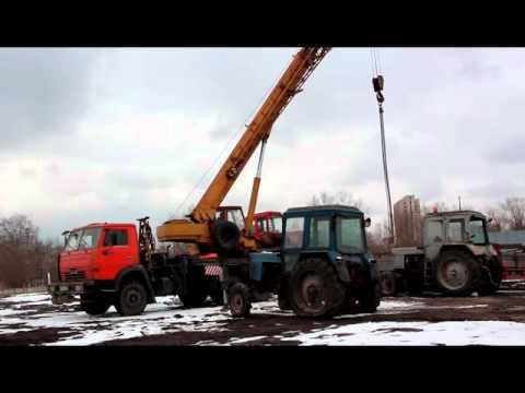 Работа автокрана Ивановец 25 тонн.