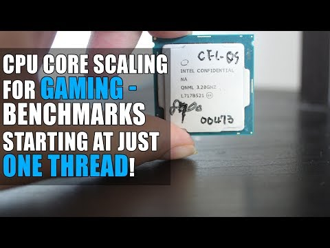 CPU Core Scaling For Gaming | Benchmarking Resolution & CPU Cores - Starting At Just ONE Thread!