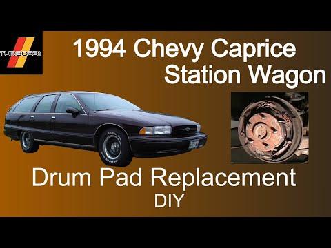 Drum Brake Pad Replacement DIY 1994 Chevy Caprice Wagon - YouTube