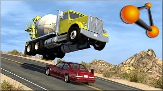 Beamng.drive cop chases and rollovers #5