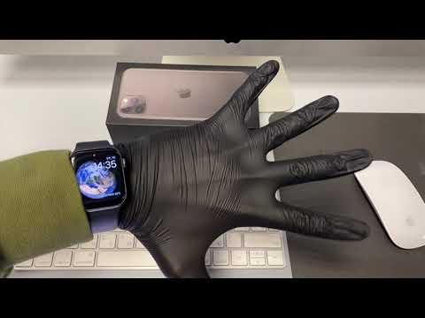 Перчатки черные медецинские