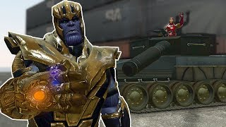 AVENGERS BASE WAR WITH TANKS? - Garry's Mod Gameplay - Gmod Base Wars