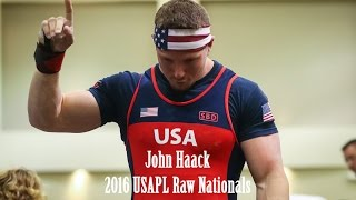 John Haack | 2016 USAPL Raw Nationals - 1785 Total (I don