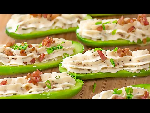 Keto Bacon Ranch Stuffed Cucumber Snacks Low-carb Light and Creamy Appetizers (Easy to Make)