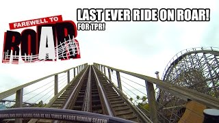 roar roller coaster pov last ever ride on roar for tpr six flags discovery kingdom