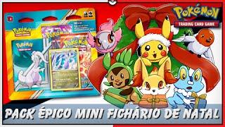 5º Pokémon TCG Unbox: Mini Fichário ÉPICO de FELIZ NATAL #LofS