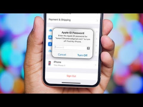 How to get apple id off iphone without password