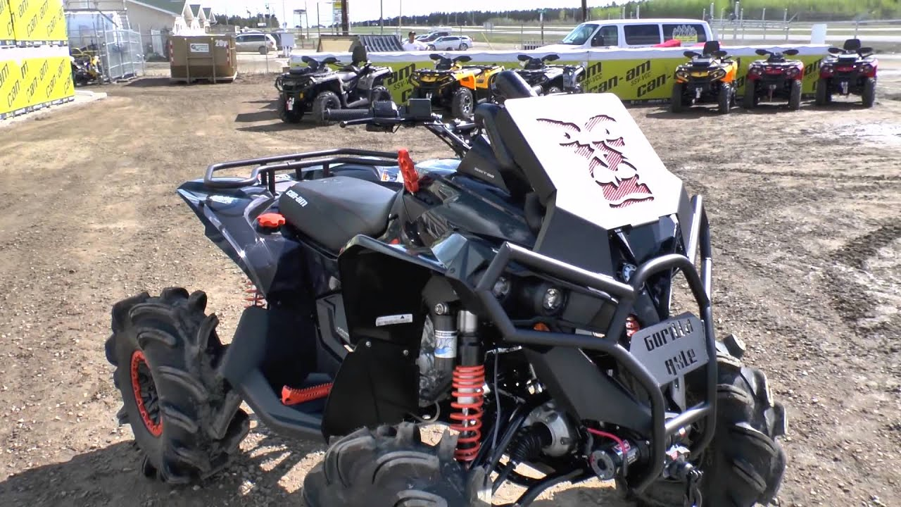 Jacked Up Modified Can Am Renegade 1000 S From The 13
