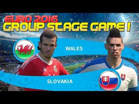 [TTB] PES 2016 Euro 2016 - Double Playthrough -  Wales vs Slovakia - Group Stage Game 1