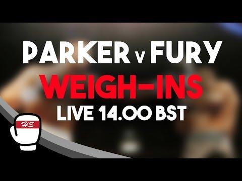 Joseph Parker v Hughie Fury | WEIGH-IN LIVESTREAM