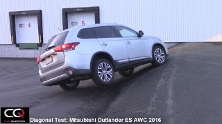 Mitsubishi Outlander ES AWC 2016 Awd Test / diagonal test / offroad test