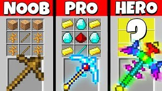 Minecraft Battle: NOOB vs PRO vs HEROBRINE: SUPER PICKAXE CRAFTING CHALLENGE / Animation