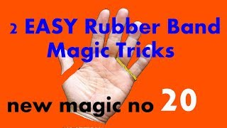 2 EASY Rubber Band Magic Tricks! Easy Magic for Kids english