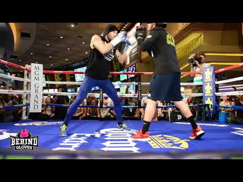 NATHAN CLEVERLY VS. BADOU JACK FULL OPEN WORKOUT LAS VEGAS