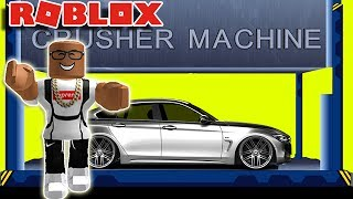 CRUSHING MY BRAND NEW CAR IN ROBLOX