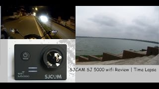 sJCAM SJ5000 wifi (without ) action camera Review  Time lapse