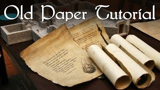 Old Paper Tutorial