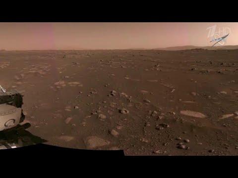 NASA опубликовало видео и звуки с поверхности Марса.