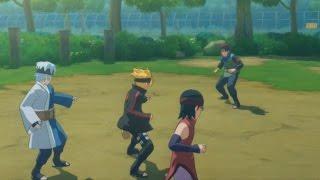 Adult Konohamaru BOSS BATTLE! vs Boruto-Mitsuki-Sarada in Story Mode | NARUTO Storm 4 ROAD to BORUTO