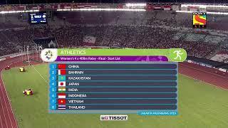 Indian Girls Wins Gold Medal In Asian Games 4×400m Relay  Final   Hima Das, Sarita Gayakwad
