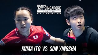 T2 Diamond 2019 Singapore (Final) | Mima Ito vs Sun Yingsha | Full Match