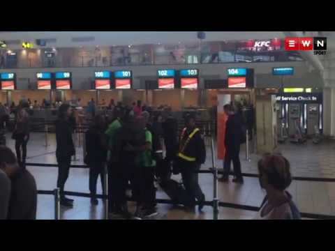 Pirates altercation at Cape Town International Airport