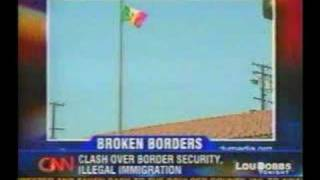 Lou Dobbs - Mexican flag raised in Maywood, California