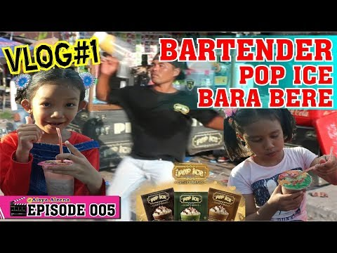 VIRAL... JOGET BARTENDER POP ICE BARA-BERE ❤ Seru Banget Saat Aisya Alzena Beli Pop Ice