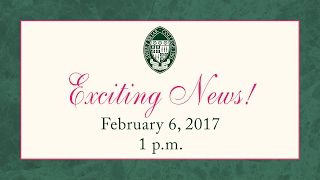 Celebratory Announcement at Sweet Briar College