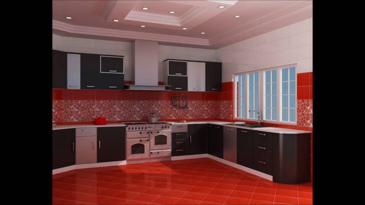Fancy red black and white kitchen ideas youtube for Kitchen ideas white cabinets red walls