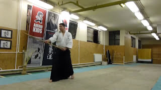 hassogaeshi ushiro uchi [TUTORIAL] basic Aikido weapon technique /hasso no bu