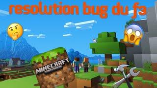 Bug du F3- Les coordonnées ne s'affichent pas/minecraft