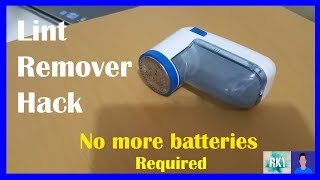 Hack Lint shaver and get rid of batteries forever