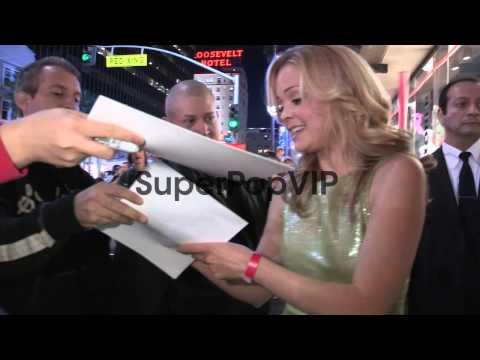 Marisa Coughlan greets fans while departing Wreck It Ralp...