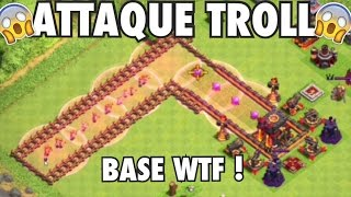 ON ATTAQUE UNE TROLL BASE WTF - CLASH OF CLANS FR