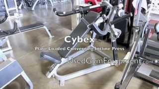 Buy Used Cybex Converging Plate Loaded Incline Press For Sale Refurbished