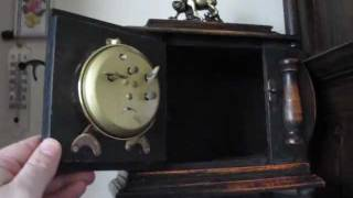 Schlesien Chinese Mantel Clock With Alarm