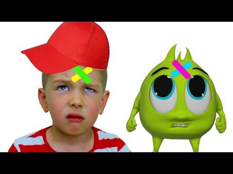 Рома и Хелпик поют ПЕСЕНКУ для детей The Boo Boo Song For Kids!